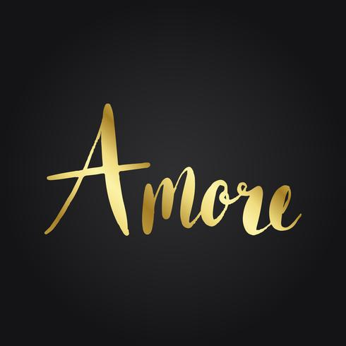 Amore italiensk typografi stil vektor