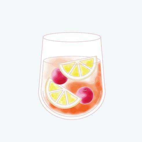 Vektor eines Getränks