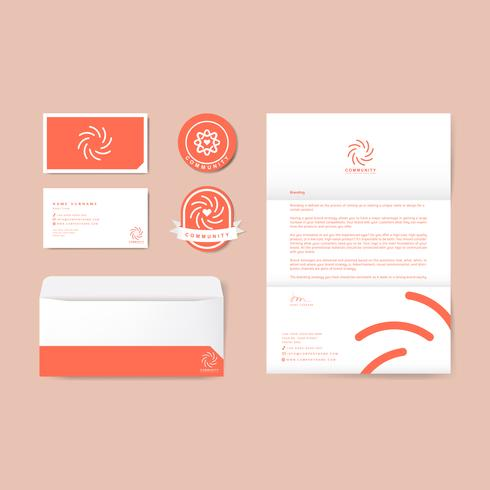 Company branding logo publication templates