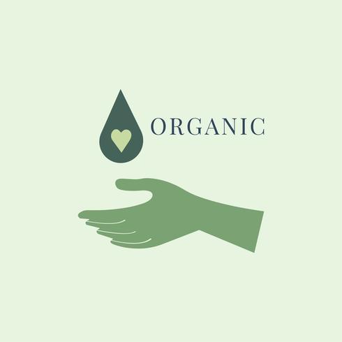 Design del logo di bellezza biologica e naturale