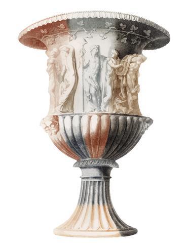Weinleseillustration eines Borghese Vase