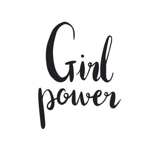 Mädchen Power Typografie Stil Vektor