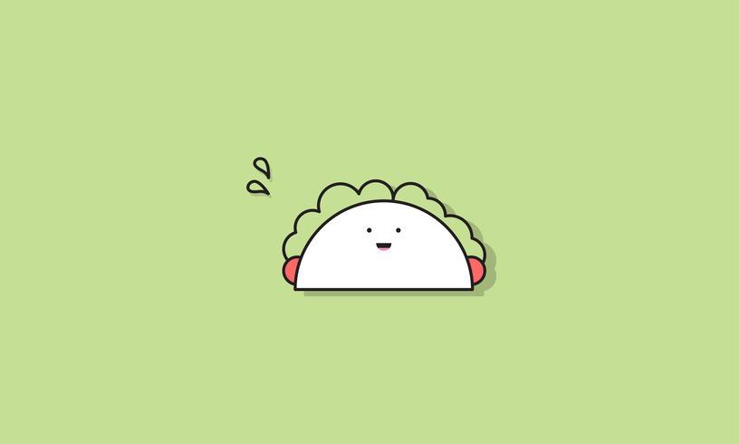 Illustration of taco food