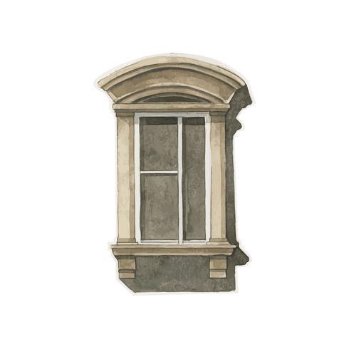 Illustration av fönster vatten stil stil