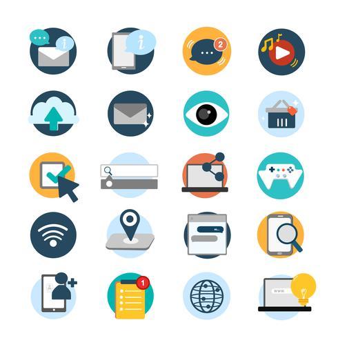 Illustration set of social network icons