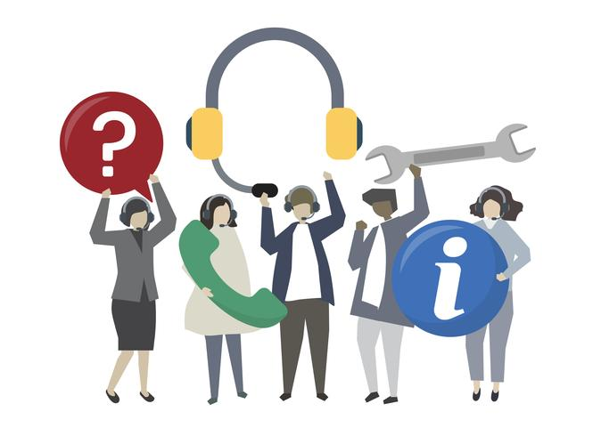 People with customer service concept illustration