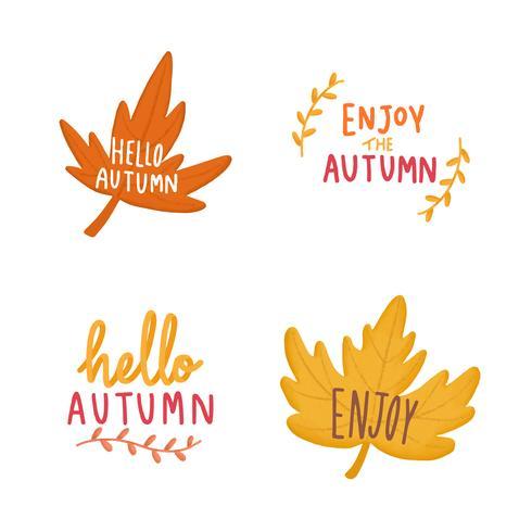 Set der Herbstlaubabbildung