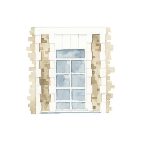 Illustration du style de couleur de l'eau de la fenêtre