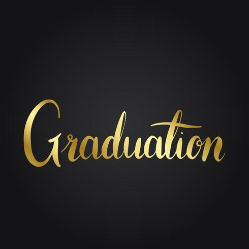 Graduation concept typography style vector