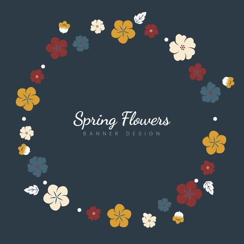 Bunte Blumengrenze