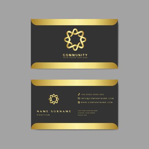 Modelo de design de exemplo de cartão de visita