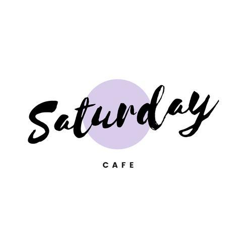Sábado café logo marca vector