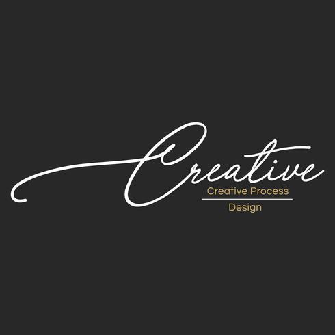 Illustration de la bannière de timbre concepteur créatif