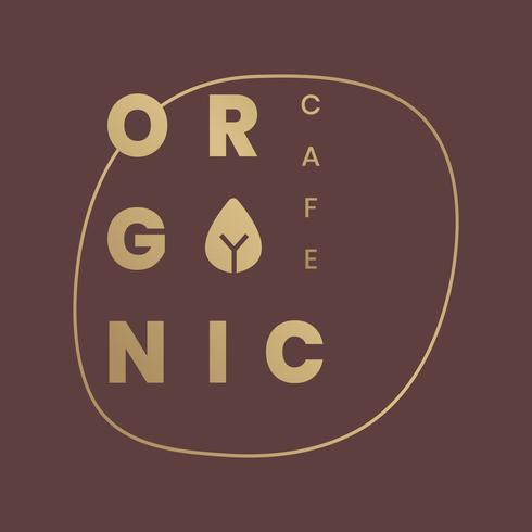Logo para cafés orgánicos.