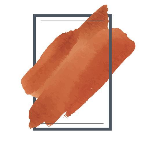 Vetor de design de banner aquarela laranja
