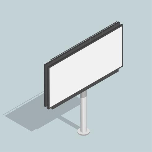 Vettore dell'icona di pubblicità del tabellone per le affissioni