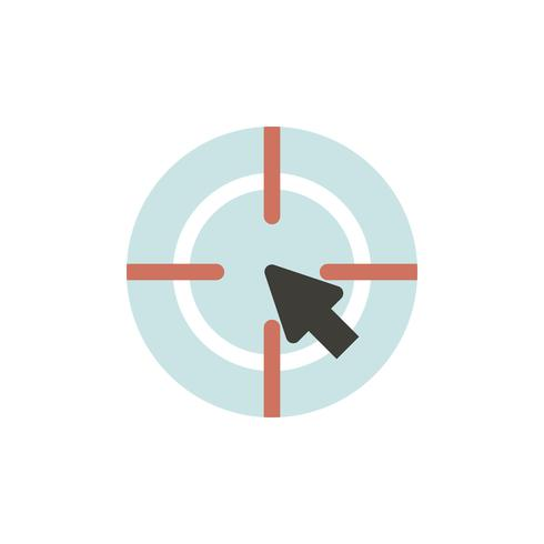Vektor des Zielsymbols