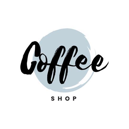 Kaffebutik logo branding vektor