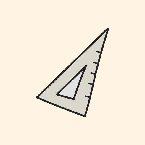 Vektor der Briefpapiergekritzelart