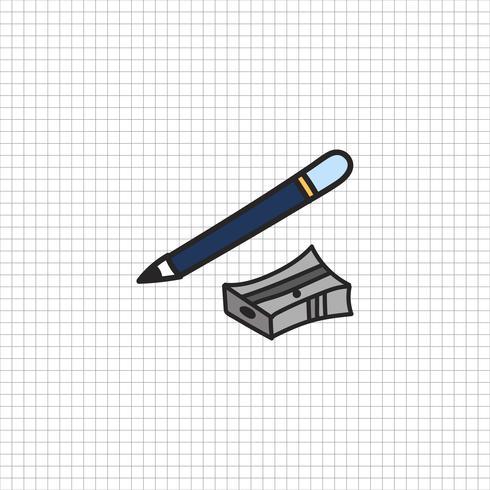 Stazionario stile di disegno illustrazione