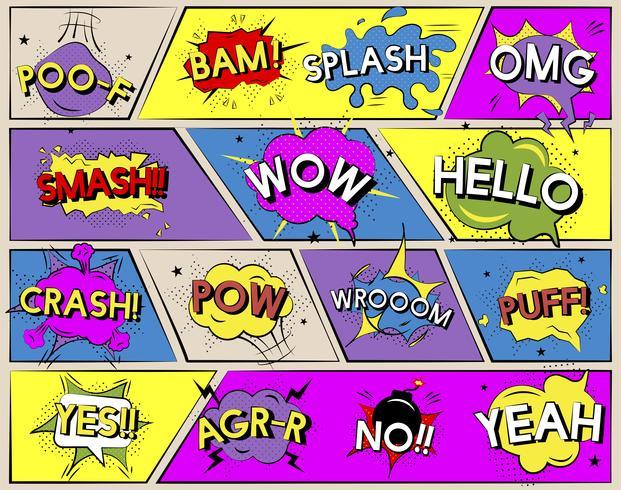 Expressions de mots de style bande dessinée