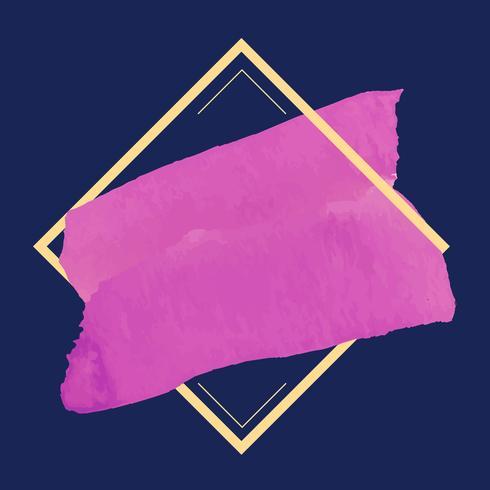 Magenta vattenfärg banner design vektor