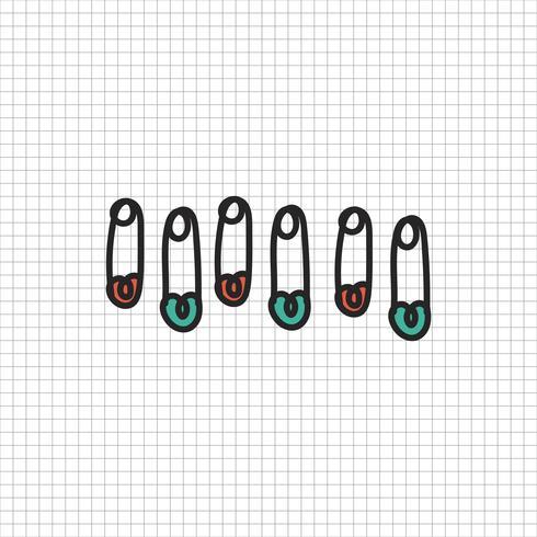 Vektor av brevpapper doodle stil