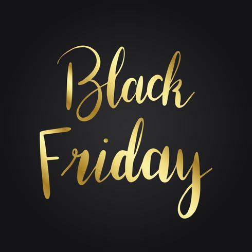 Black Friday goldene Typografie
