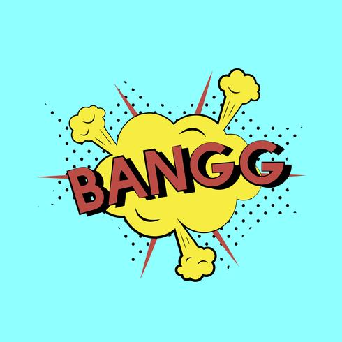 Comic style illustration of the word bang