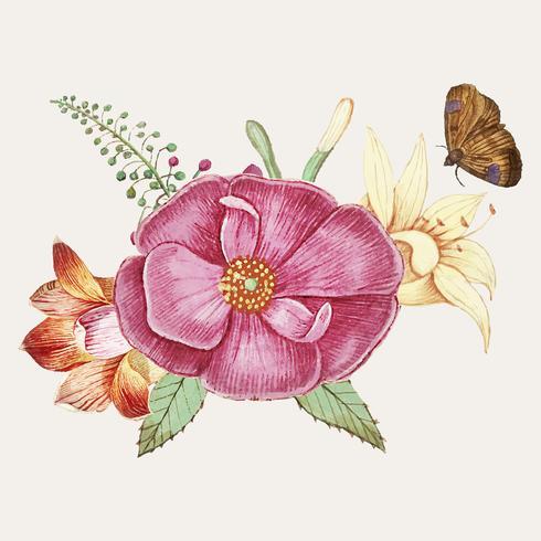 Rosa salvaje en estilo vintage