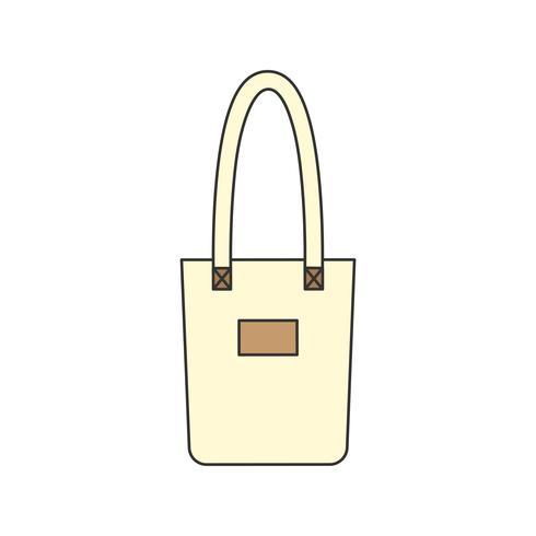 Ilustração, de, um, sacola, sacola