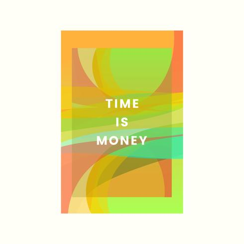 Time is money design graphique coloré