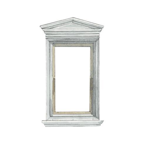 Illustratie van de stijl van de vensterwaterkleur