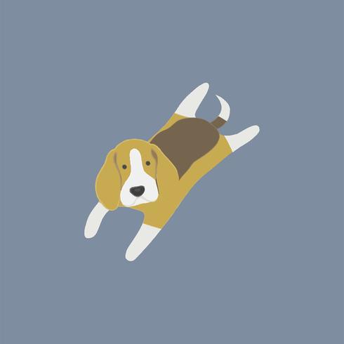 Linda ilustración de un perro beagle