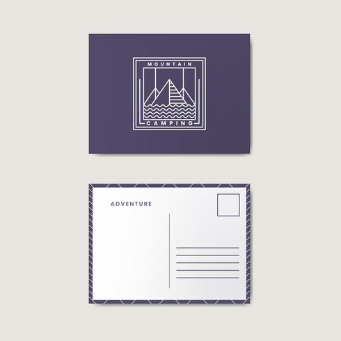 Post card design template mockup