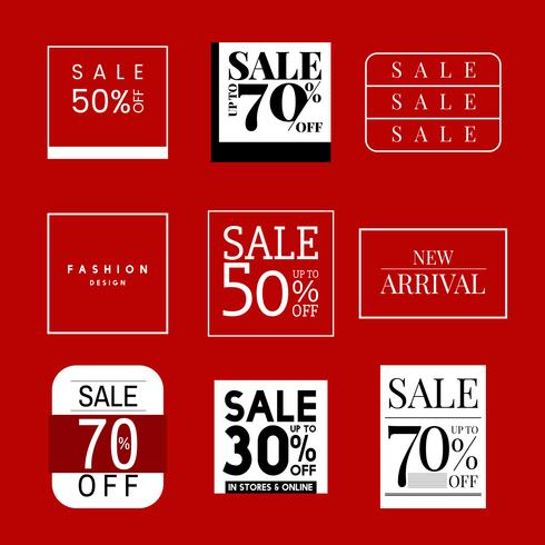 Ensemble de modèle de conception de promotion de vente