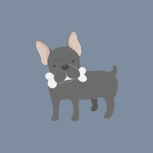 Linda ilustración de un bulldog francés