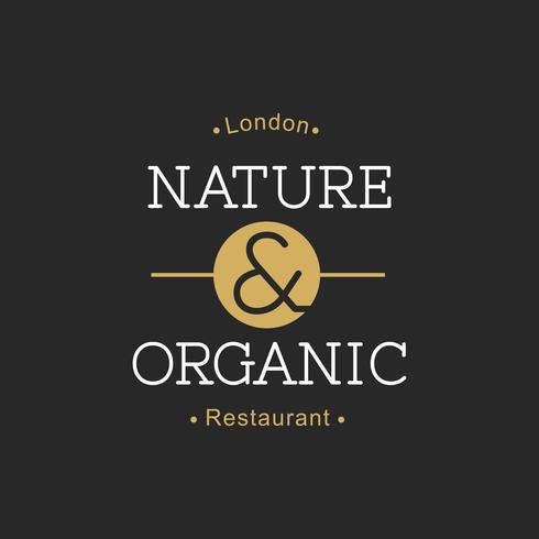 Ilustración de banner de sello de comida orgánica