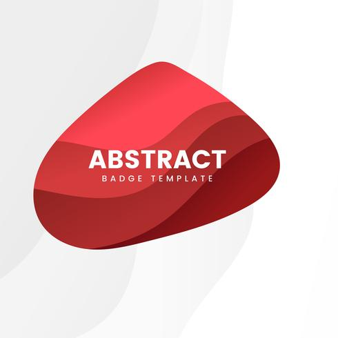 Abstract badge template in red