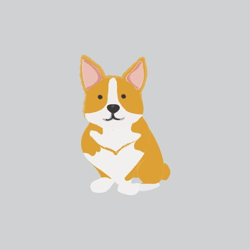 Jolie illustration d'un chien corgi