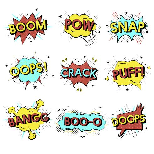Comic style word expressions