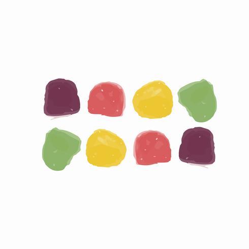 Style d'aquarelle de bonbons dessinés à la main