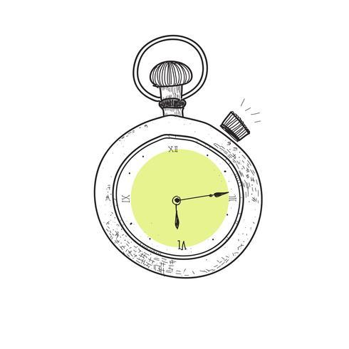 Reloj de estilo doodle.