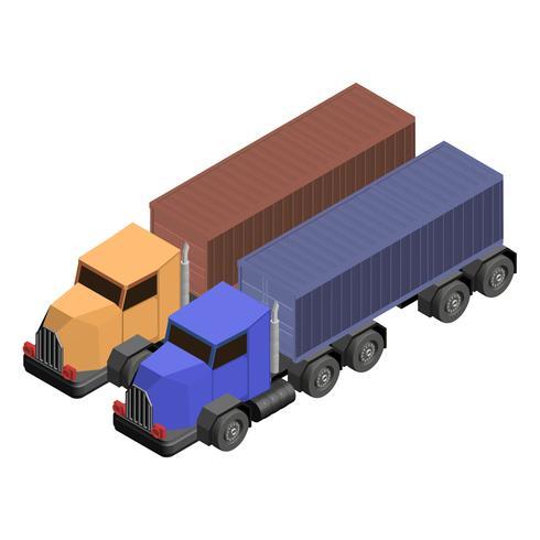 Camión camión aislado en el fondo