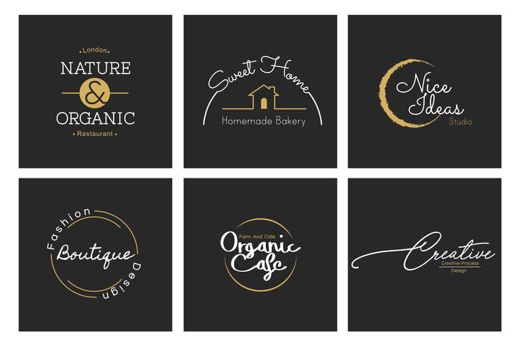 Ilustración de negocio tienda logo sello banner