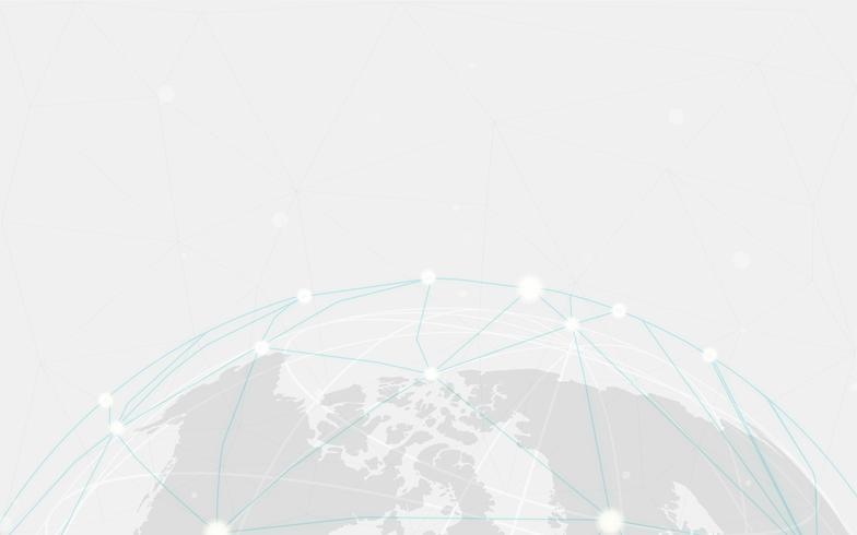 Wereldwijde verbinding grijze achtergrond illustratie vector
