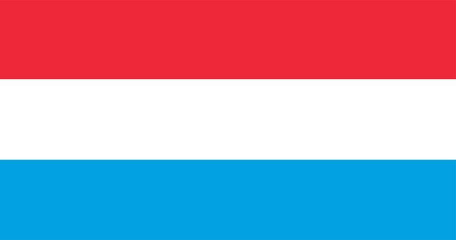 Abbildung der luxemburgischen Flagge
