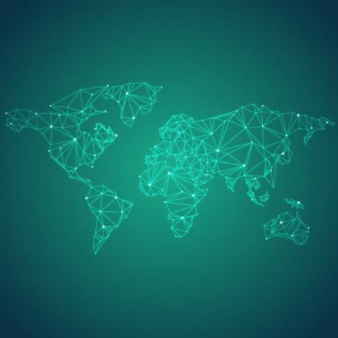 Global anslutning grön bakgrunds illustration vektor