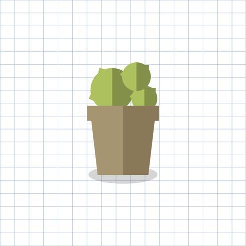 Illustration av en kaktus i en kruka
