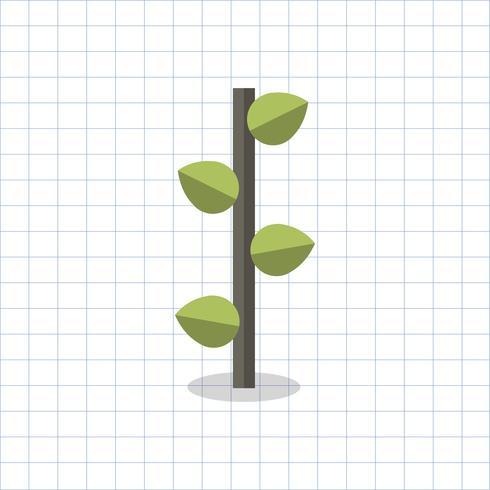 Illustratie van een geometrische boom